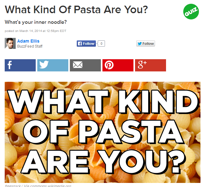 Buzzfeed Quizzes_Interactive Content Examples