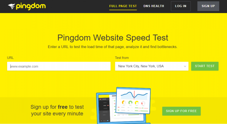 Pingdom_Diagnostic Tools_Interactive Content Examples